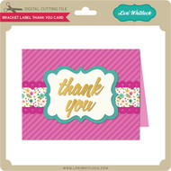 Bracket Label Thank You Card