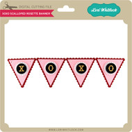 XOXO Scalloped Rosette Banner