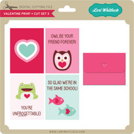 Valentine Print + Cut Set 3
