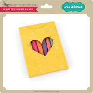 Heart Crayon Box 8 Pack