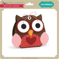 Heart Owl Favor Box