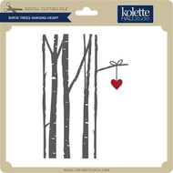Birch Trees Hanging Heart