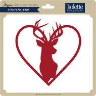 Stag Head Heart