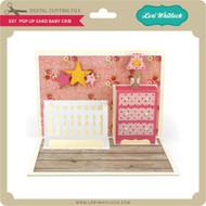 5x7 Pop Up Card Baby Crib