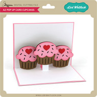 A2 Pop Up Card Cupcakes
