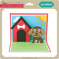 A2 Pop Up Card Dog Dog House