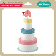 Tiered Cake Baby Elephant