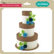 Tiered Cake with Flowers