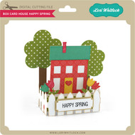 Box Card House Happy Spring