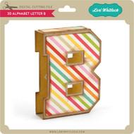 3D Alphabet Letter B