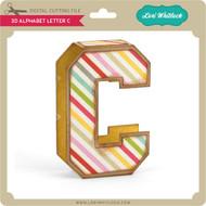 3D Alphabet Letter C