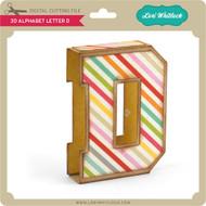3D Alphabet Letter D
