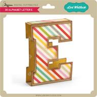 3D Alphabet Letter E