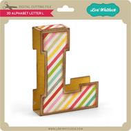 3D Alphabet Letter L