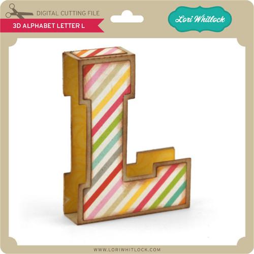3D Alphabet Letter L. $0.99. Image 1