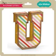 3D Alphabet Letter U
