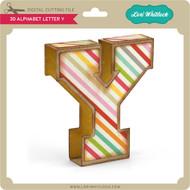 3D Alphabet Letter Y