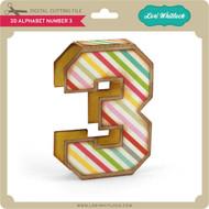 3D Alphabet Number 3