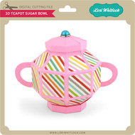 3D Teapot Sugar Bowl