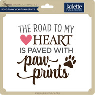 Road to My Heart Paw Prints 2