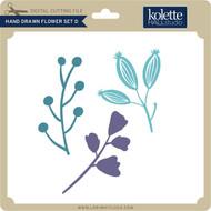 Hand Drawn Flower Set D
