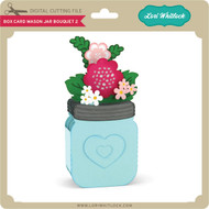 Box Card Mason Jar Bouquet 2
