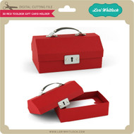 3D Red Toolbox Gift Card Holder