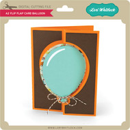 A2 Flip Flap Card Balloon