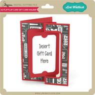 A2 Flip Flap Card Gift Card Holder