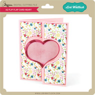 A2 Flip Flap Card Heart