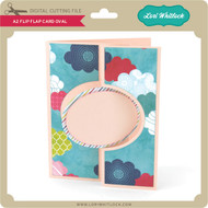 A2 Flip Flap Card Oval