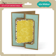 A2 Flip Flap Card Rectangle