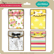 A2 3x4 4x6 Ribbon Tie Envelopes