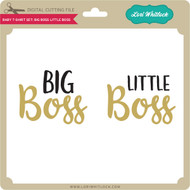 Baby T-Shirt Set: Big Boss Little Boss