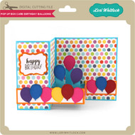 Pop Up Box Card Birthday Balloons