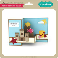 Pop Up Box Card Beach