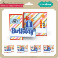Pop Up Box Card Birthday 11-15