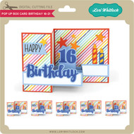Pop Up Box Card Birthday 16-21
