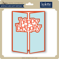 Gatefold Card Happy Birthday