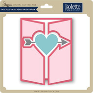 Gatefold Card Heart with Arrow