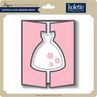 Gatefold Card Wedding Dress
