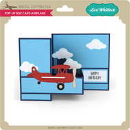 Pop Up Box Card Airplane