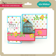 Pop Up Box Card Birdcage