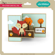 Pop Up Box Card Fall Fox