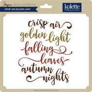 Crisp Air Golden Light