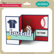 Pop Up Box Card Baseball