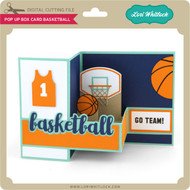 Pop Up Box Card Basketball