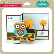 Pop Up Box Card Owl 2