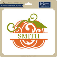Flouish Pumpkin Split Label