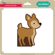 Shaped Card Deer
